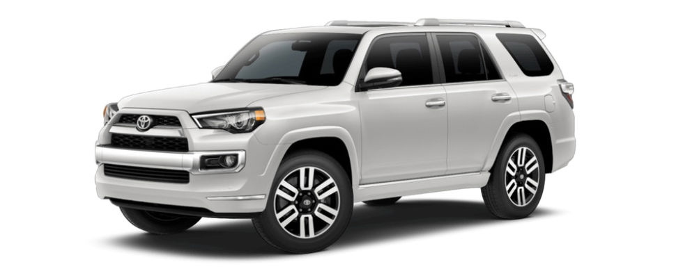 Blizzard Pearl 2018 Toyota 4Runner Exterior on White Background