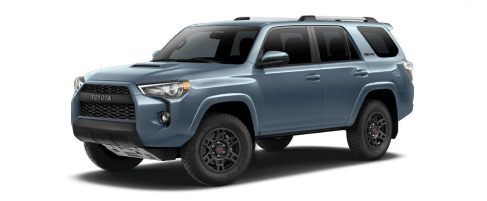 Cavalry Blue 2018 Toyota 4Runner TRD Pro Exterior on White Background