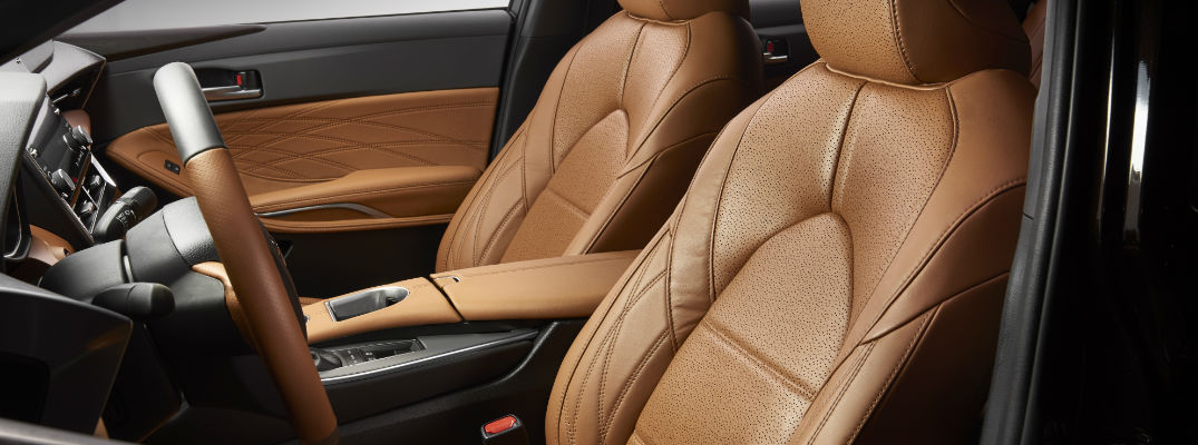 Quilted Tan Leather Front Seats in 2019 Toyota Avalon