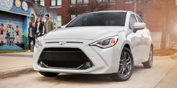 2019 Toyota Yaris Sedan Grille on City Street