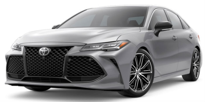 2019 Toyota Avalon Celestial Silver Metallic Exterior on a White Background