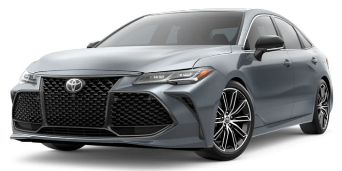 2019 Toyota Avalon Harbor Gray Metallic Exterior on a White Background