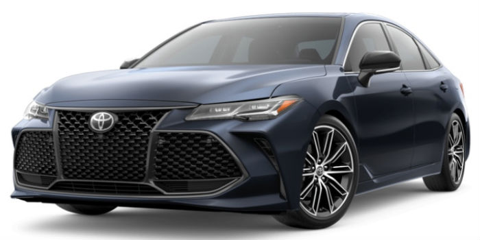 2019 Toyota Avalon Parisian Night Pearl Exterior on a White Background