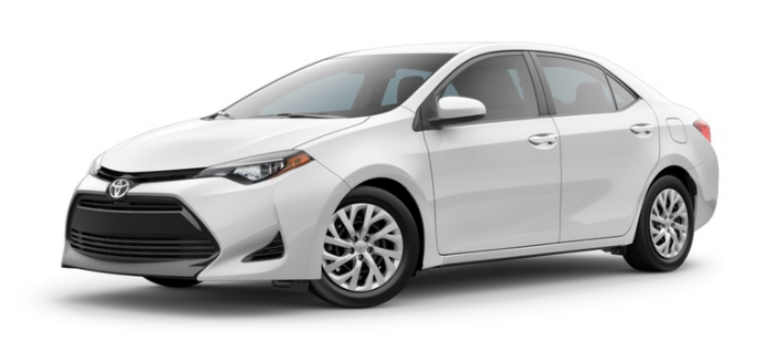 Super White 2019 Toyota Corolla Exterior on a White Background