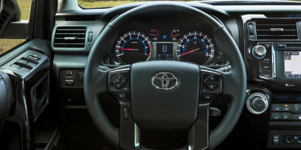 2019 Toyota 4Runner Nightshade Edition Steering Wheel, Dashboard and Touchscreen Display