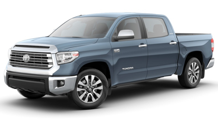 Available 2019 Toyota Tundra Interior And Exterior Color Options