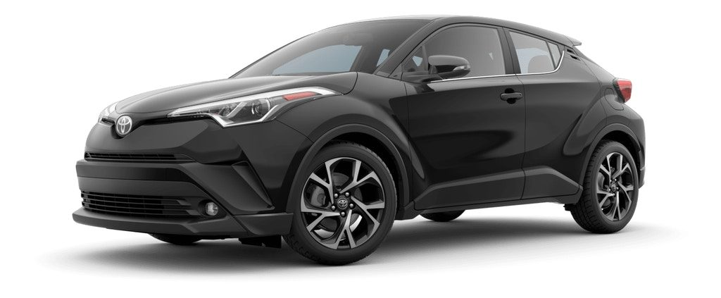 Black Sand Pearl 2019 Toyota C-HR on White Background