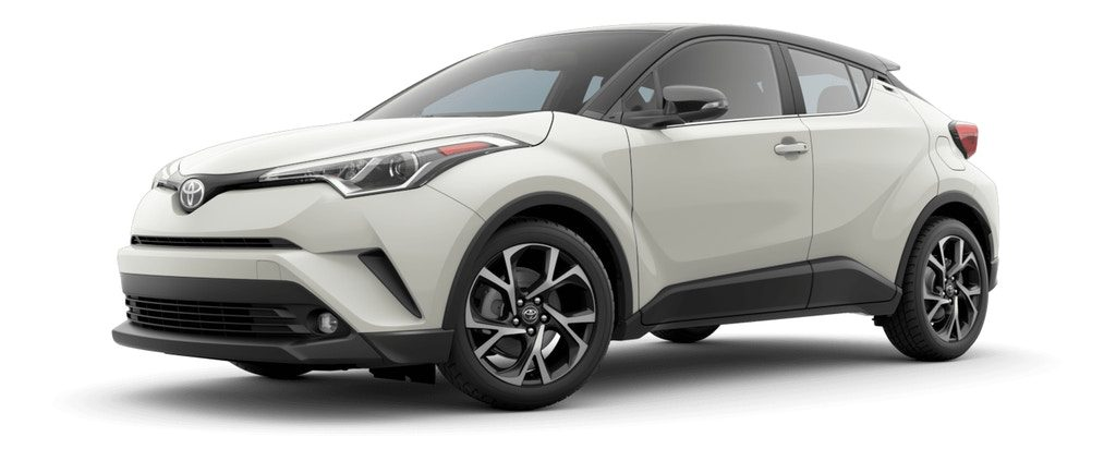 Blizzard Pearl R-Code Black 2019 Toyota C-HR on White Background