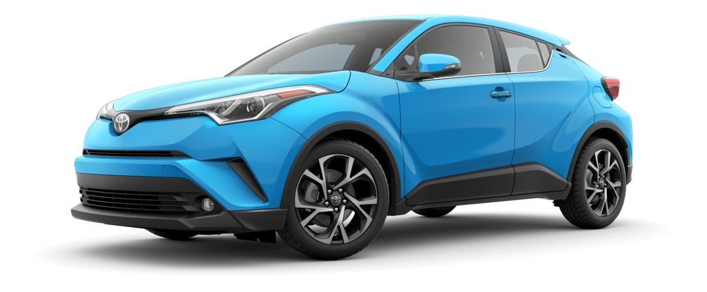 Blue Flame 2019 Toyota C-HR on White Background