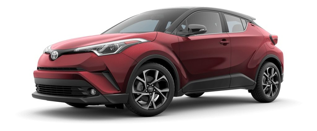 Ruby Flare Pearl R-Code Black 2019 Toyota C-HR on White Background