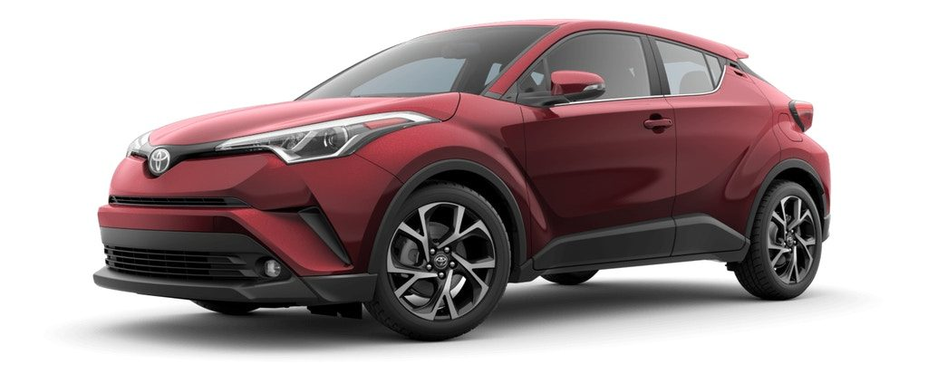 Ruby Flare Pearl 2019 Toyota C-HR on White Background