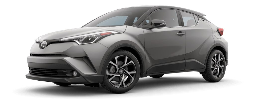 Silver Knockout MEtallic R-Code Black 2019 Toyota C-HR on White Background