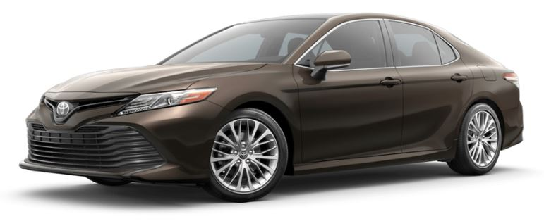 Brownstone 2019 Toyota Camry on White Background