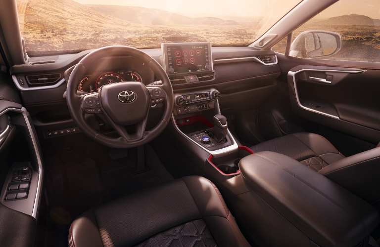 2020 Toyota RAV4 TRD Off-Road Steering Wheel, Dashboard and Touchscreen