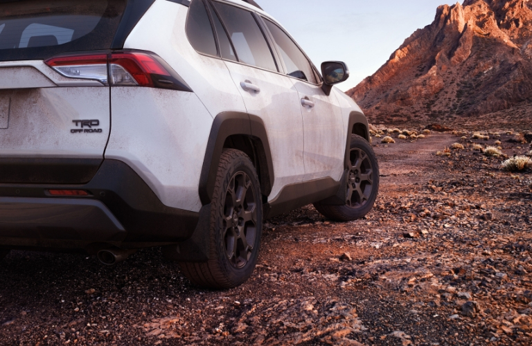 White 2020 Toyota RAV4 TRD Off-Road Rear Exterior
