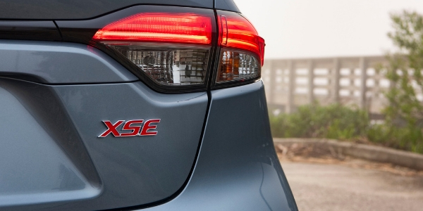 Close Up of 2020 Toyota Corolla XSE Badge