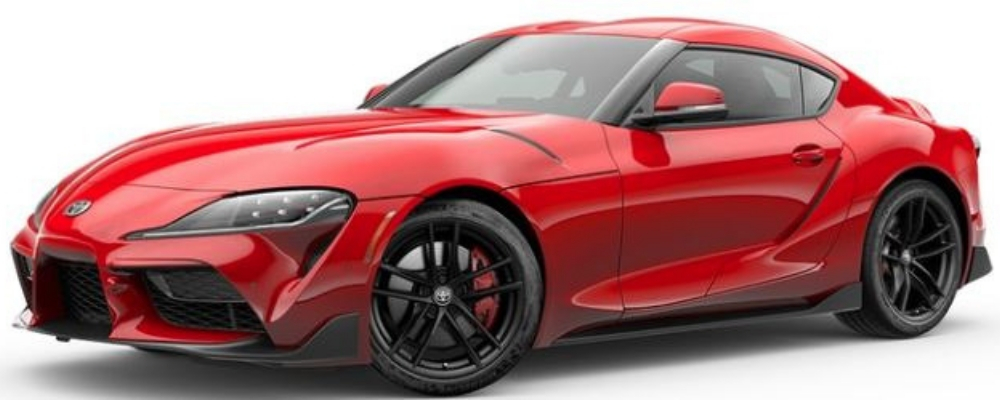 Renaissance Red 2.0 2020 Toyota Supra Launch Edition on White Background