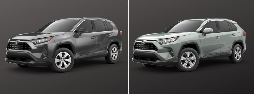 2019 Toyota RAV4 LE vs 2019 Toyota RAV4 XLE Trim Level Comparison