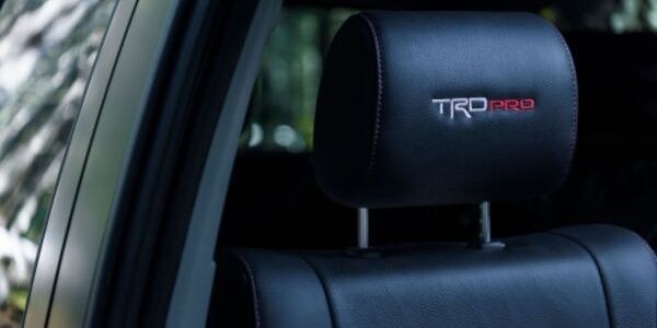 2020 Toyota Sequoia TRD Pro Headrests with Embroidered TRD Pro Logo