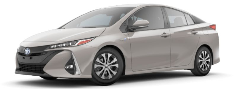 Titanium Glow 2020 Toyota Prius Prime on White Background