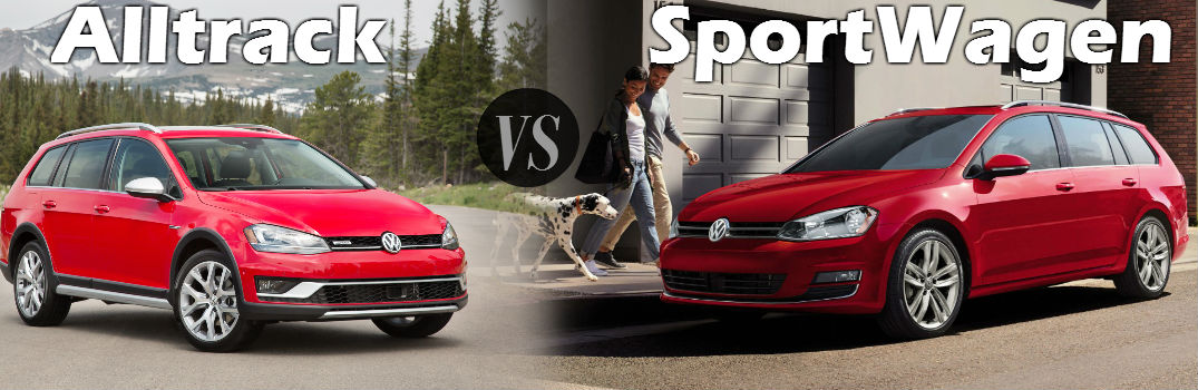 How is the VW Golf Alltrack different from the SportWagen