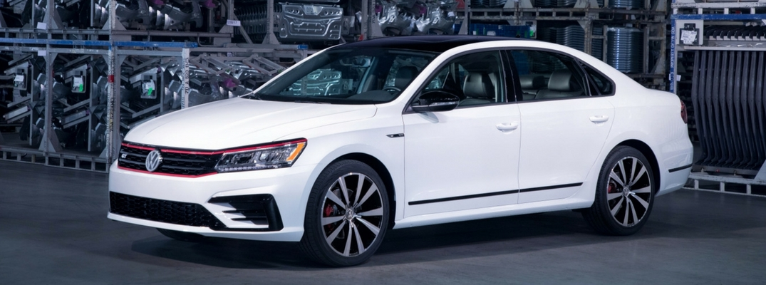 2018 VW Passat GT Diagonal View of Pure White Exterior