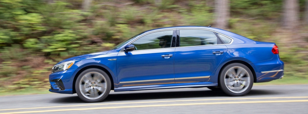 2018 VW Passat Side View of Blue Exterior