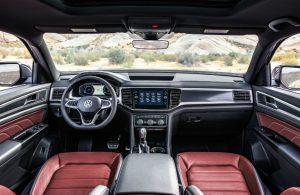 2020 Volkswagen Atlas Cross Sport dashboard and steering wheel