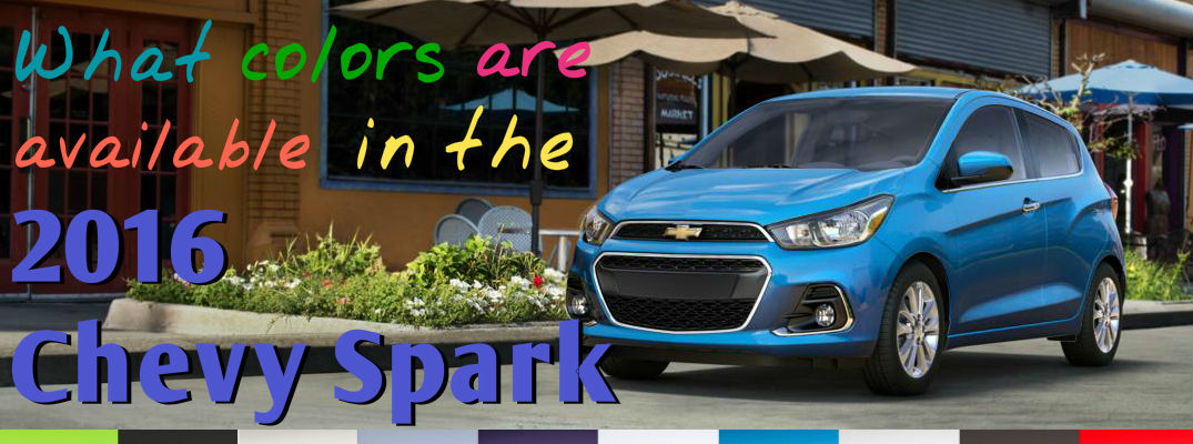 What colors are available in the 2016 Chevy Spark?