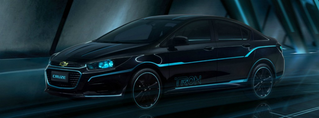 Custom TRON Chevy Cruze at 2016 Beijing Auto Show