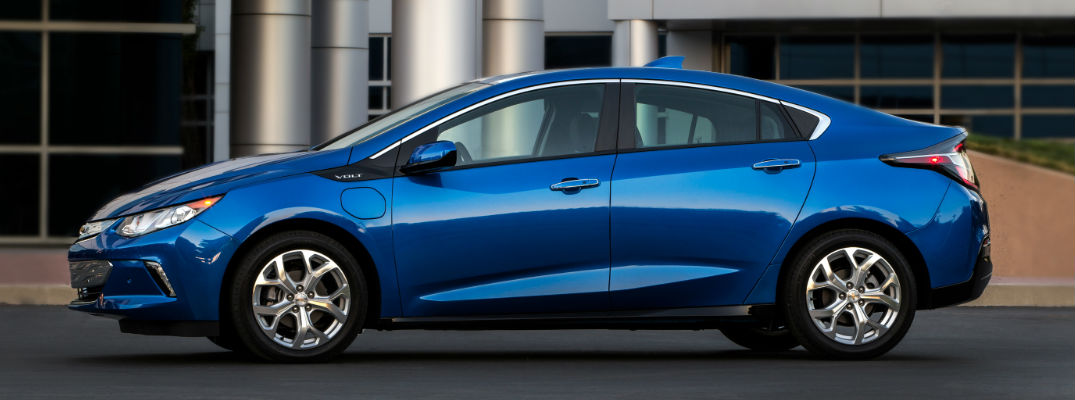 Blue 2017 Chevy Volt Side Exterior