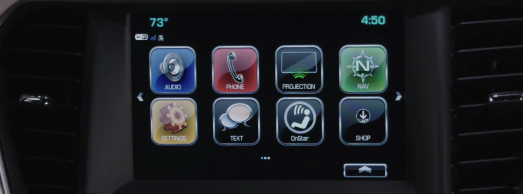 What Does the SHOP App Do on the GMC Infotainment System?