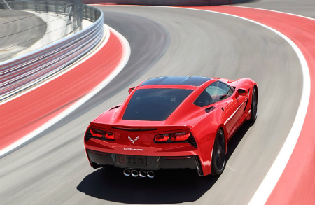 2017 chevy corvette in red