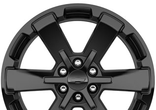 Chevy black wheel
