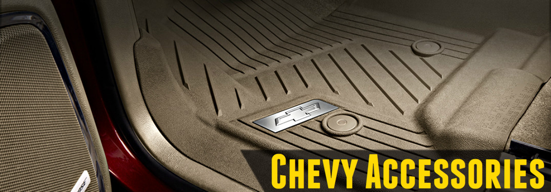 Chevy floor liner tan with Chevy emblem in silver