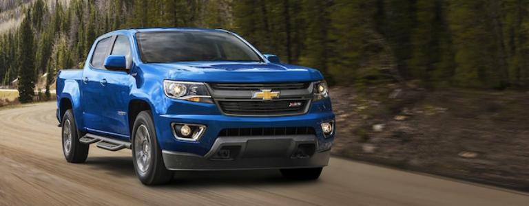 2018 Chevy Colorado diesel blue side view