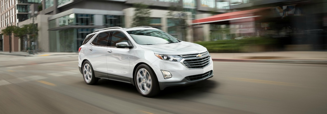 2018 Chevy Equinox diesel white side view