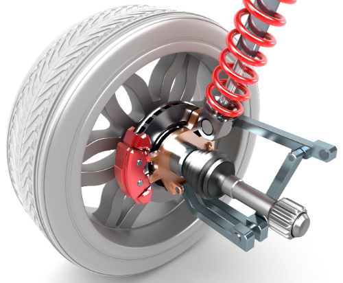wheel shock absorber and abs brakes