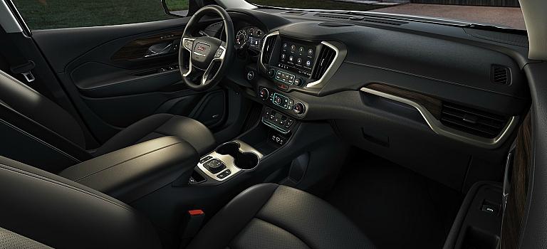 2018 GMC Terrain black leather interior