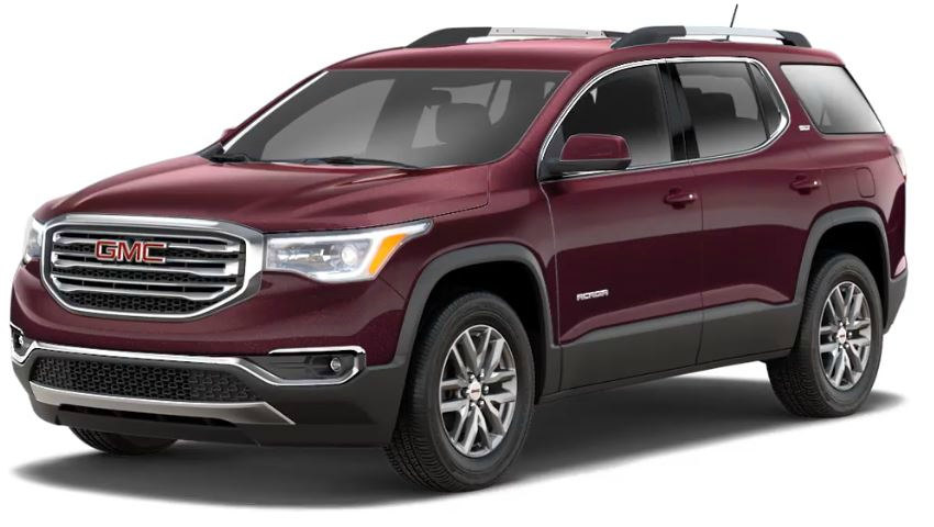 2018 Gmc Acadia Black Cherry Side View2 O Holiday Automotive
