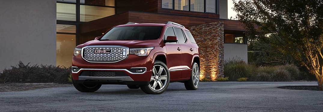 2018 GMC Acadia red side view