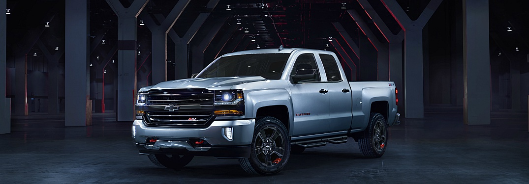 2018 Chevy Silverado 1500 white side view