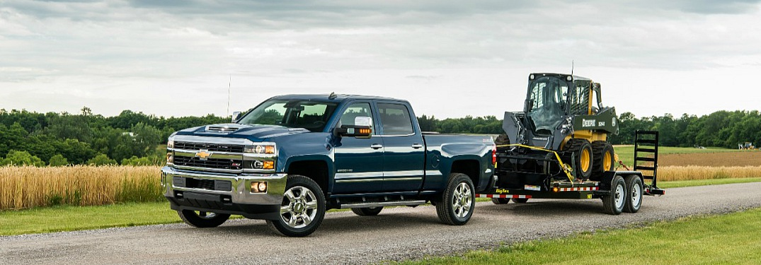 2018 Chevy Silverado blue towing equipment