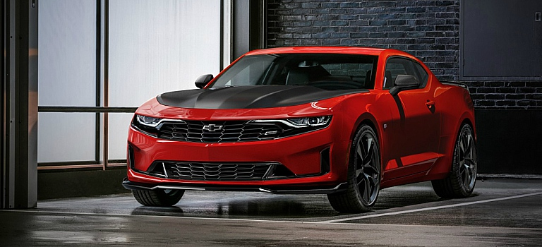 2019 Chevy Camaro Turbo red front view