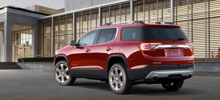 2018 Gmc Acadia Slt Red Back View O Holiday Automotive