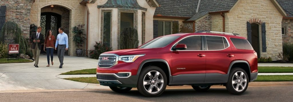 difference between 2018 gmc acadia sle and slt trims