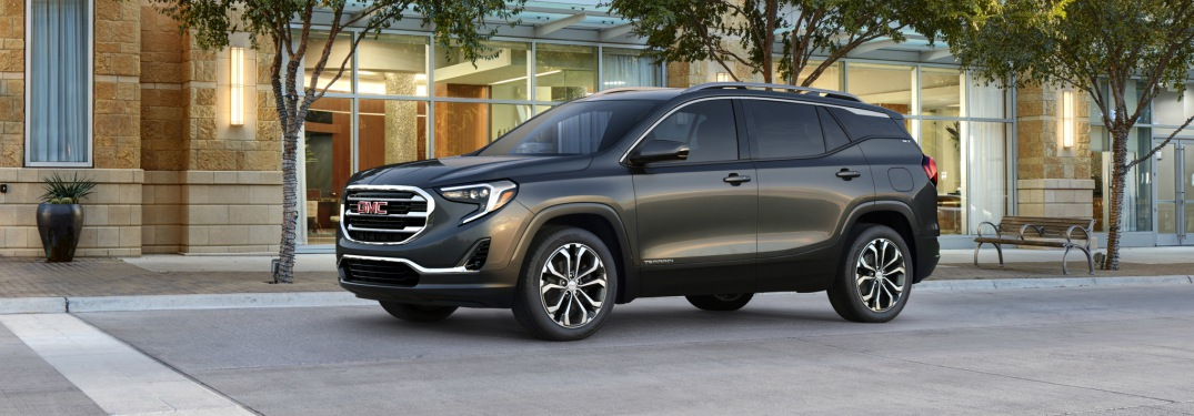 2018 GMC Terrain black side view