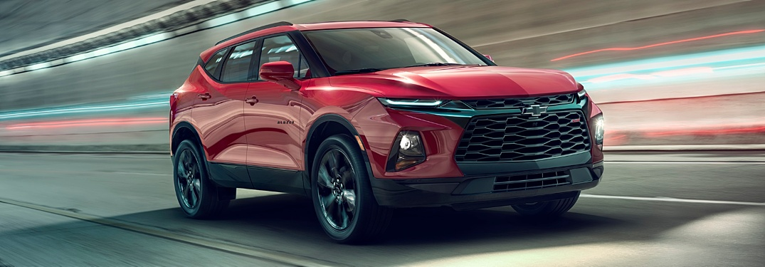 2019 Chevy Blazer red front view