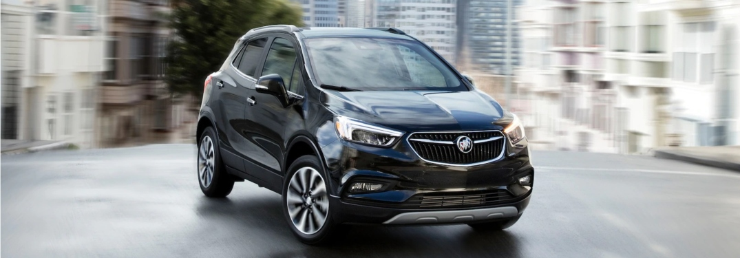 2018 Buick Encore black front view