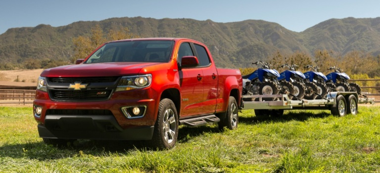 towing capacity for the 2018 gmc canyon and chevy colorado. Black Bedroom Furniture Sets. Home Design Ideas